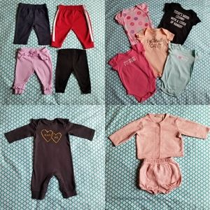 12 piece gently used 0-3 month old bundle.